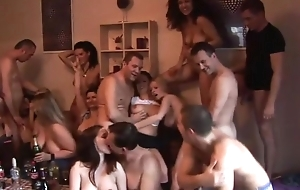 Manipulate of sizzling Czech swingers having fun in the living room