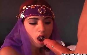Bellydancing Arabian princess gets
