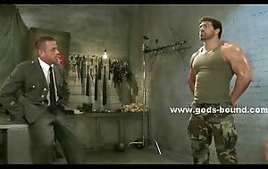 Oustandingly joyous soldier bondage sex video