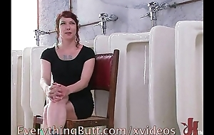 Buttocks enema for a redhead