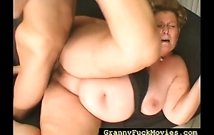 Chubby granny carrying out throughout dirty