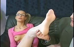 Petite babe about arms surrounding glasses fucking about hose