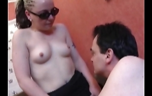 Blonde in stockings analfucked