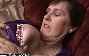 Sixty year old mom in sexy lingerie