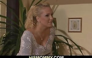 Horny mom seduces son'_s GF
